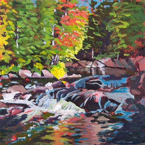 Ragged Falls, Oxtongue Rapids - Artfest Ontario - Lynne Ryall Art - Paintings, Artwork & Sculpture