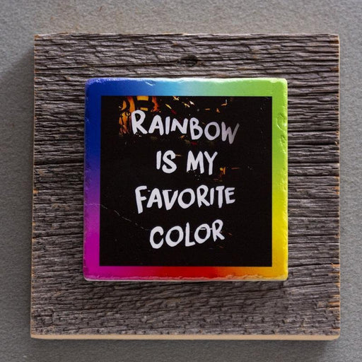 Rainbow - On Barn Board 0003C - Artfest Ontario - Art On Stone - Photography