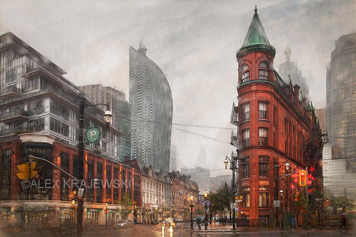 Rainy Day on Front Street - Toronto, ON - Artfest Ontario - Alex Krajewski Gallery - Paintings -Artwork - Sculpture