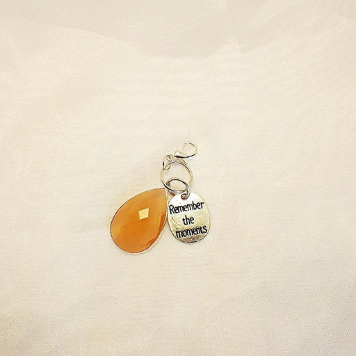 Remember the Moments Amber Key Fob - Artfest Ontario - Moosonee Puppy Rescue - Jewelry & Accessories