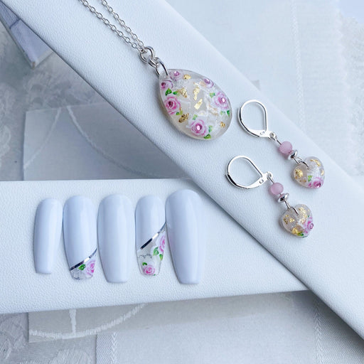 Resin and Sterling Silver Jewellery & Luxury Nail Set - Artfest Ontario - Studio Degas - Jewelry & Accessories