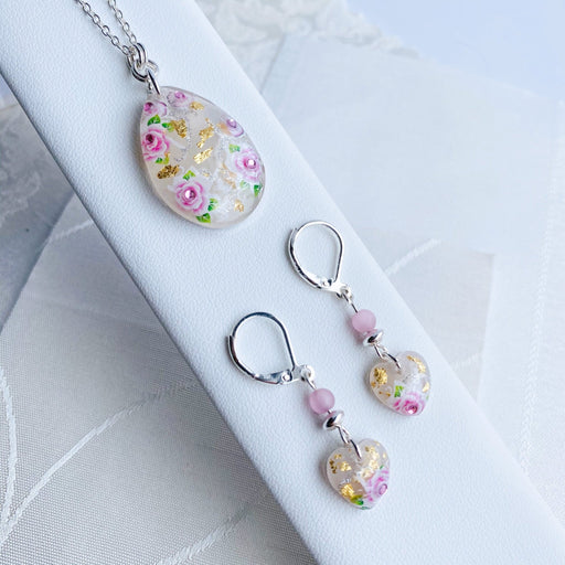 Resin and Sterling Silver Pendant & Earrings Set - Artfest Ontario - Studio Degas - Jewelry & Accessories