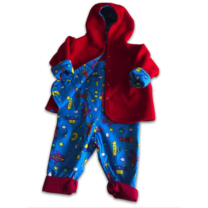 Reversible Jacket and Matching Romper Ages 1-2 Years - Artfest Ontario - Muffin Mouse Creations - Clothing & Accessories