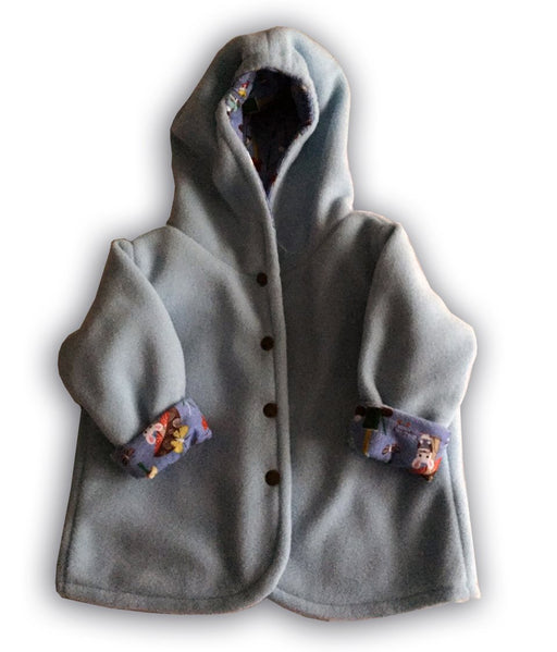 Reversible Jacket in Blue Polar Fleece - Artfest Ontario - Muffin Mouse Creations - Clothing & Accessories