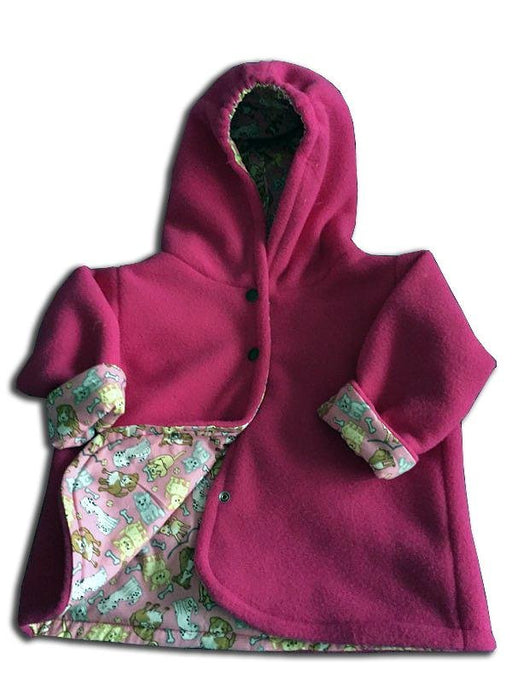 Reversible Jacket in Rose Polar Fleece - Artfest Ontario - Muffin Mouse Creations - Clothing & Accessories