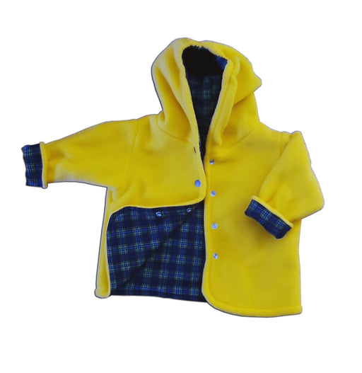 Reversible Jacket in Yellow Polar Fleece - Artfest Ontario - Muffin Mouse Creations - Clothing & Accessories