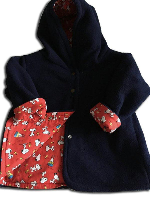 Reversible Jackets in Navy Blue Polar Fleece - Artfest Ontario - Muffin Mouse Creations - Clothing & Accessories