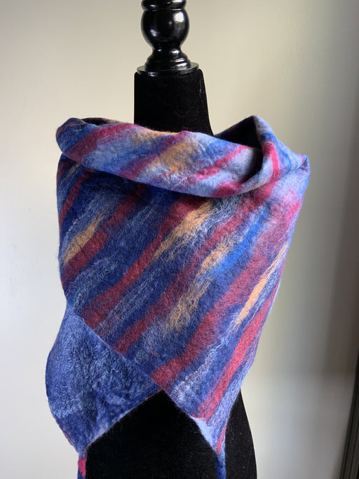 Reversible rectangular scarf - Artfest Ontario - Love to Felt Artwear - Clothing & Accessories