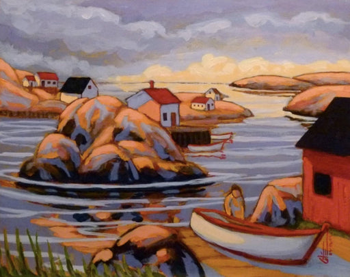 Rocky Harbour - Artfest Ontario - Gilles Côté - Paintings -Artwork - Sculpture