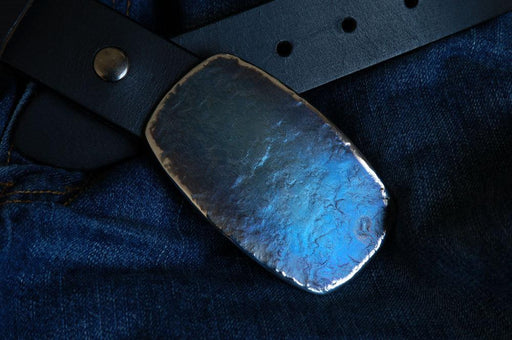 Rodeo BLUE Jean Belt Buckle - Artfest Ontario - Iron Art - Clothing & Accessories