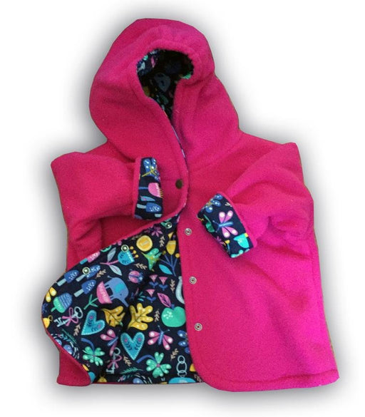 Rose Garden Polar Fleece Reversible Jacket - Artfest Ontario - Muffin Mouse Creations - Clothing & Accessories