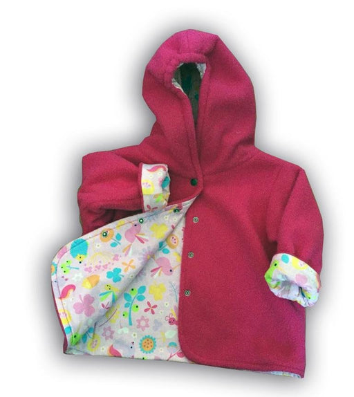 Rose Hummingbird Polar Fleece Reversible Jacket - Artfest Ontario - Muffin Mouse Creations - Clothing & Accessories