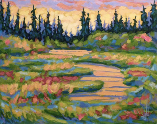 Ruisseau en Automne (Stream in Autumn) - Artfest Ontario - Gilles Côté - Paintings -Artwork - Sculpture