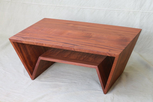 Sapele Angle Table - Artfest Ontario - Merganzer Furniture - Furniture & Houseware