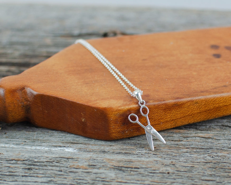 Scissors charm Silver Necklace - Artfest Ontario - Lisa Young Design - Charm Necklaces