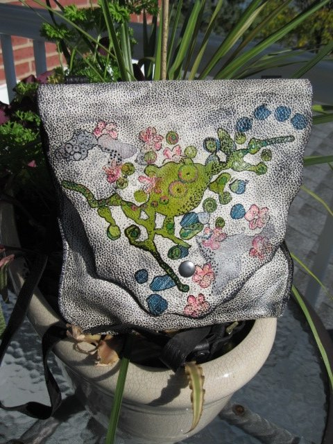 Sculpt print Coral in Bloom bag - Artfest Ontario - Gu krea..shun - Bags