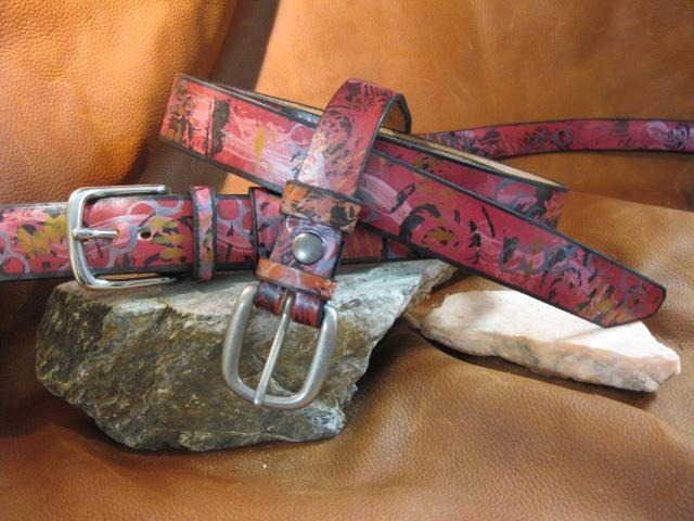 Sculpt print Poetry of fossilization - Artfest Ontario - Gu krea..shun - Leather belts
