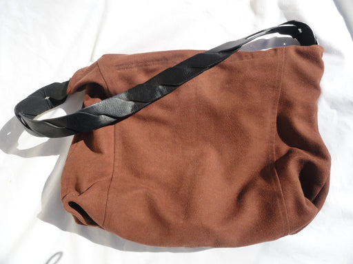 Shoulder Hobo Bag # 1853 Upcycled Sienna - Artfest Ontario - Revoila Handbags - Clothing & Accessories