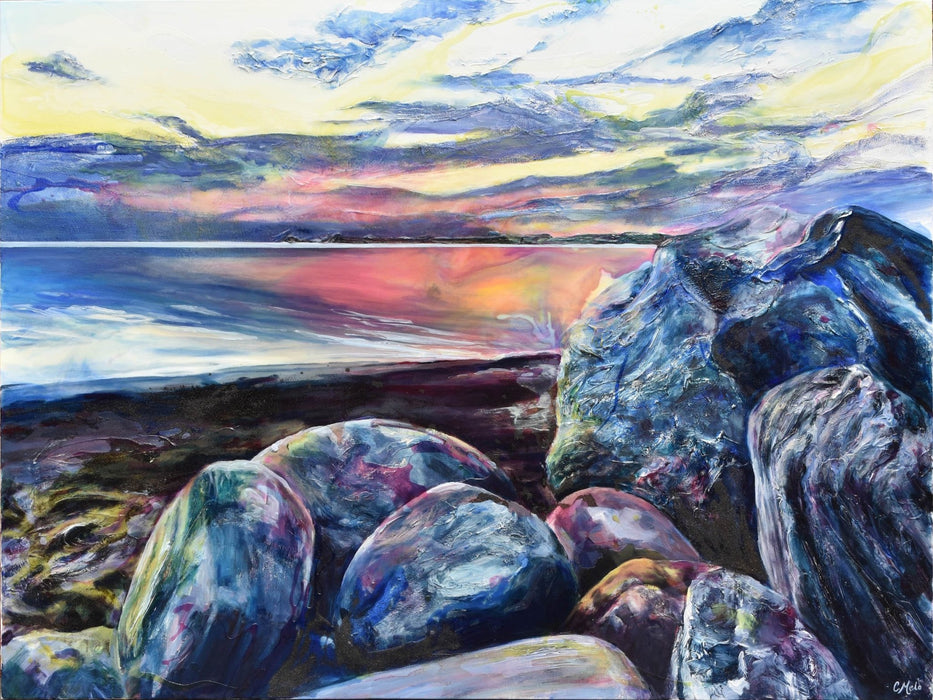Sky, Water and Rocks Aglow, 2019 - Artfest Ontario - Celina Melo - Paintings, Artwork & Sculpture