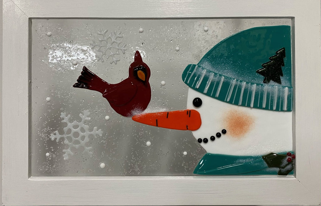 Snowman Window Series - Artfest Ontario - Out of Ruins - Glass Work
