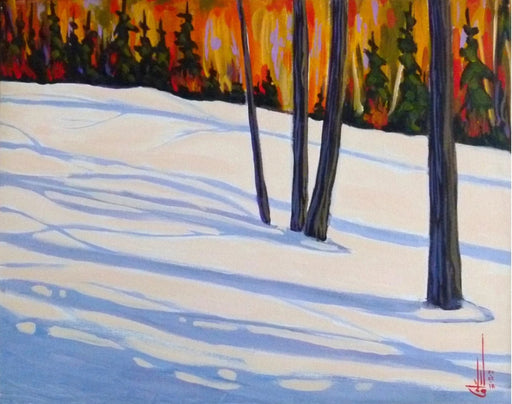 Sous-bois en Hiver-V (Undergrowth in Winter-V) - Artfest Ontario - Gilles Côté - Paintings -Artwork - Sculpture