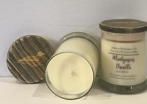 Soy Wax Candle - Madagascar Vanilla - 12 oz Signature Series - cotton or paper wick - Artfest Ontario - North Country Candle - Furniture & Houseware