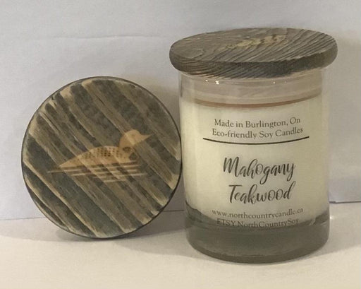 Soy Wax Candle -Mahogany Teakwood -12 oz Signature Series -cotton wick - Artfest Ontario - North Country Candle - Furniture & Houseware