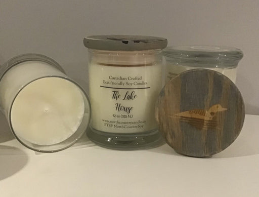 Soy Wax Candle -The Lake House - 12 oz fat bottom jar - Artfest Ontario - North Country Candle - Furniture & Houseware