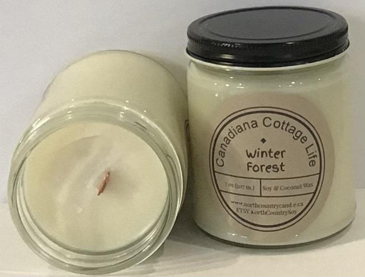Soy Wax Candle - Winter Forest -12 oz Signature Series - Paper or Cotton wick - Artfest Ontario - North Country Candle - Furniture & Houseware