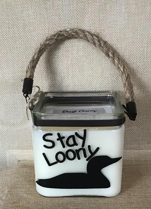 Stay Loony – 20 oz Square Cube Candle with Rope - Artfest Ontario - North Country Candle - Furniture & Houseware