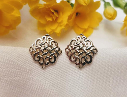 Sterling Celtic Stud Earrings - Medium - Artfest Ontario - Delicate Touch Jewellery - Fine Jewellery