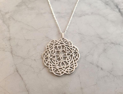 Sterling Complex Celtic Pendant on Chain - Artfest Ontario - Delicate Touch Jewellery - Fine Jewellery