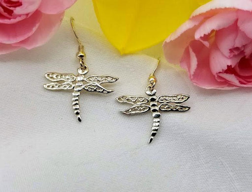Sterling Dragonfly Earrings - Artfest Ontario - Delicate Touch Jewellery - Fine Jewellery