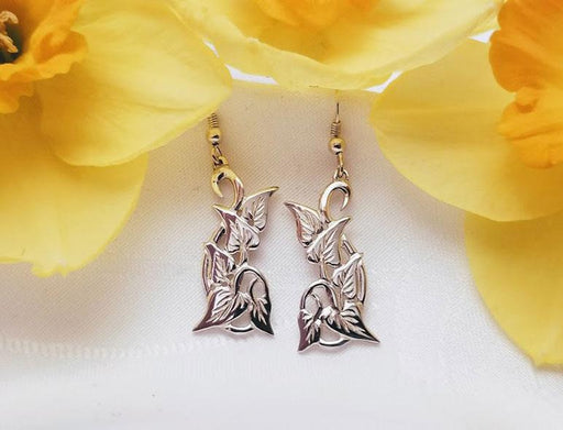 Sterling Fine Cut Leaf Branch Earrings - Artfest Ontario - Delicate Touch Jewellery - Fine Jewellery