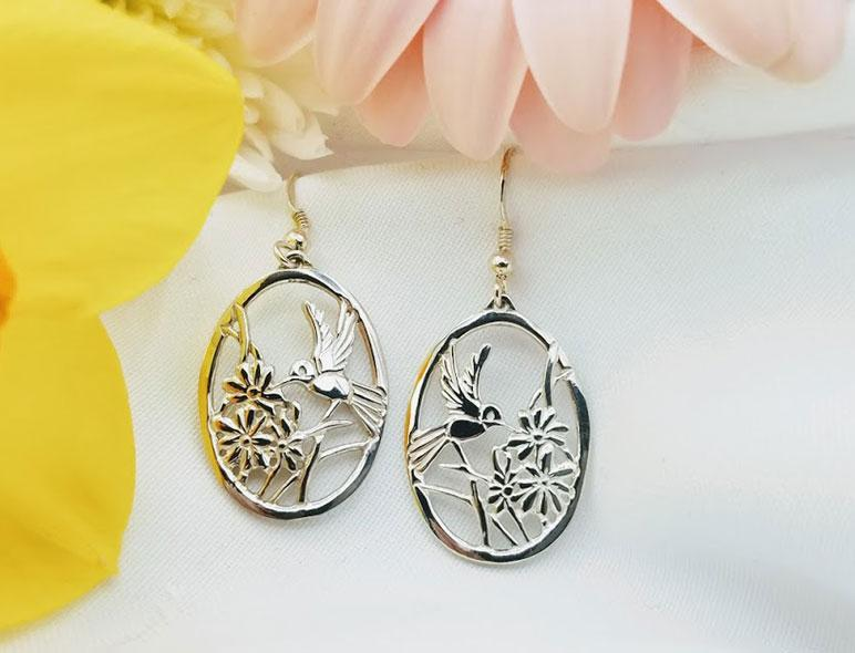 Sterling Hummingbird Earrings - Artfest Ontario - Delicate Touch Jewellery - Fine Jewellery