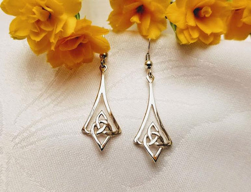 Sterling Silver Celtic Diamond Drops - Artfest Ontario - Delicate Touch Jewellery - Fine Jewellery