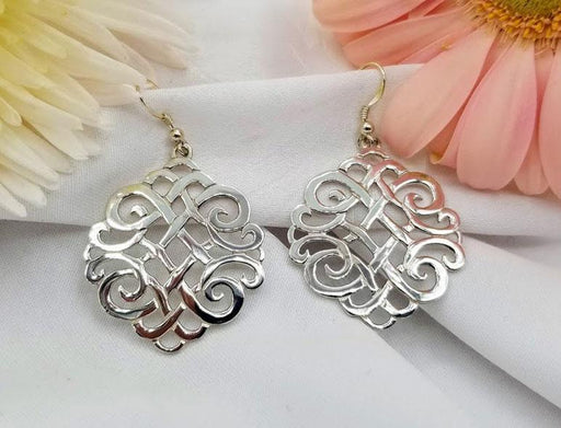 Sterling Silver Round Celtic Earrings - Large - Artfest Ontario - Delicate Touch Jewellery - Fine Jewellery