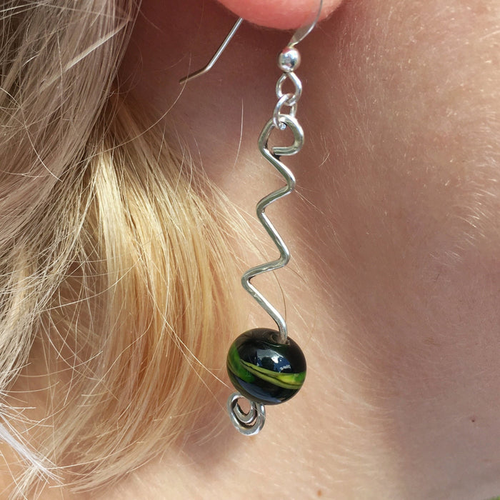 Sterling Silver Wire and Bead Earrings - Artfest Ontario