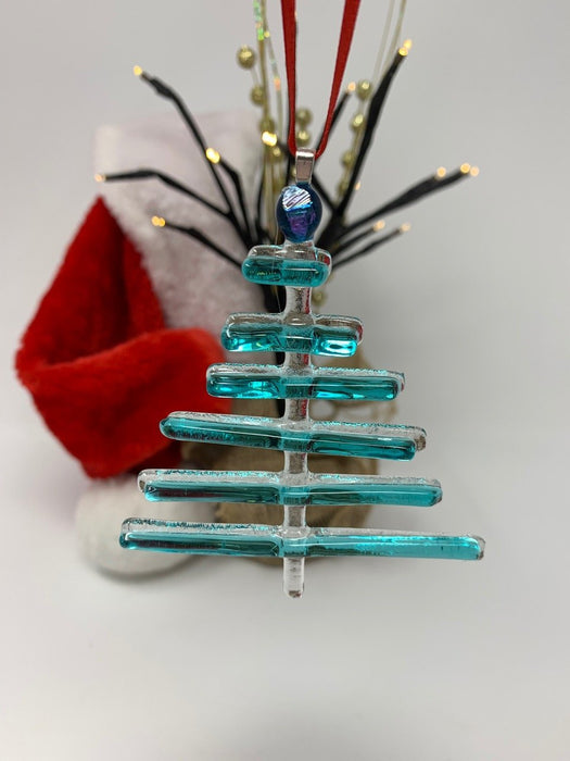 Stick Tree Fused Glass Ornament - Artfest Ontario - Shardz Art Glass - Glass Work
