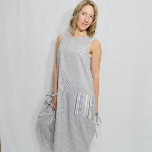 STRIPE DRESS - Artfest Ontario - OlgaG Knits - Clothing & Accessories