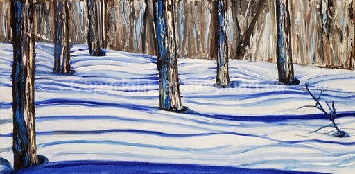 Striped Shadows - Artfest Ontario - Jenn Keski Art - Painting