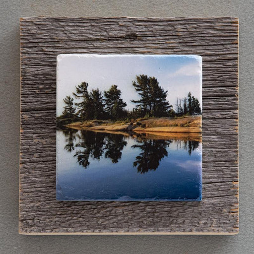 Sunrise Reflections - On Barn Board 1562 - Artfest Ontario - Art On Stone - Photography