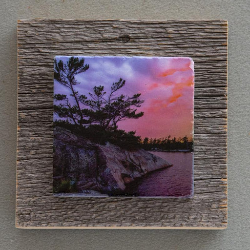 Sunset Point - On Barn Board 0195 - Artfest Ontario - Art On Stone - Photography