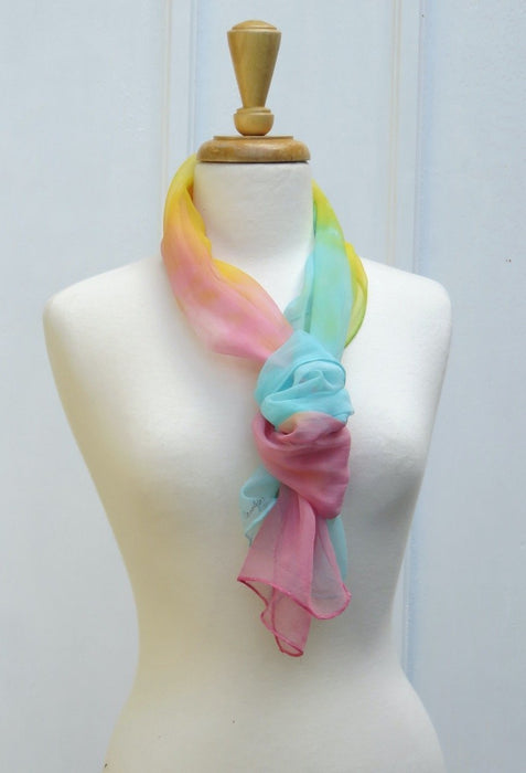 Swirls & Twinkles Hand-painted Silk Scarf - Artfest Ontario - Carolyn M. Barnett Designs - Clothing & Accessories