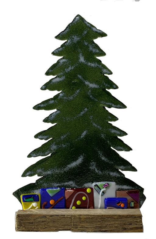 Table Top Christmas Trees - Artfest Ontario - Out of Ruins - Glass Work