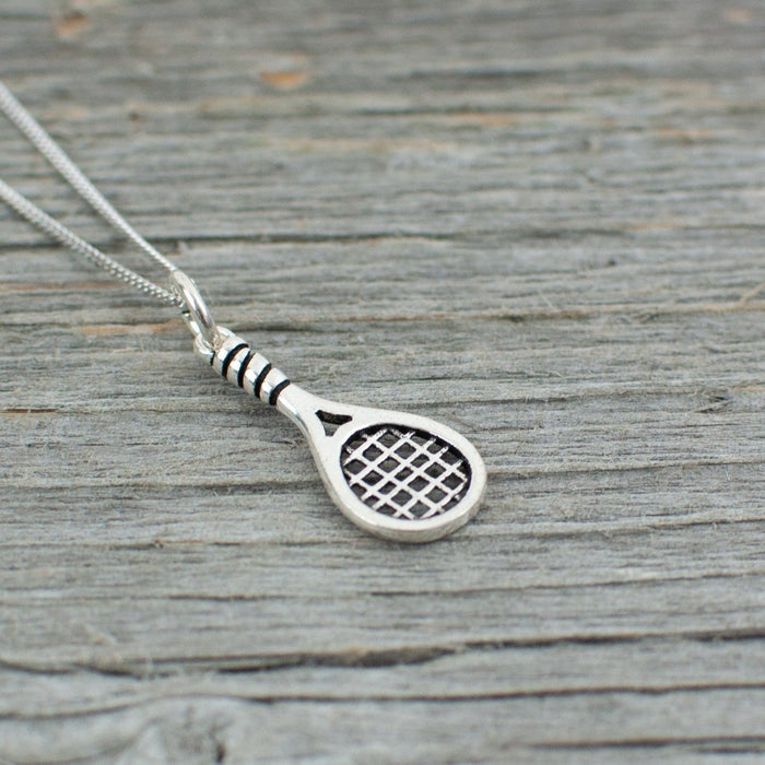 Tennis racquet charm Silver Necklace - Artfest Ontario - Lisa Young Design - Charm Necklaces
