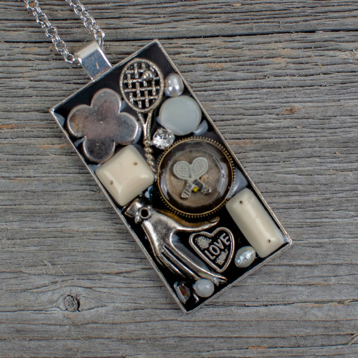 Tennis theme necklace - Artfest Ontario - Lisa Young Design - Golf Jewelry