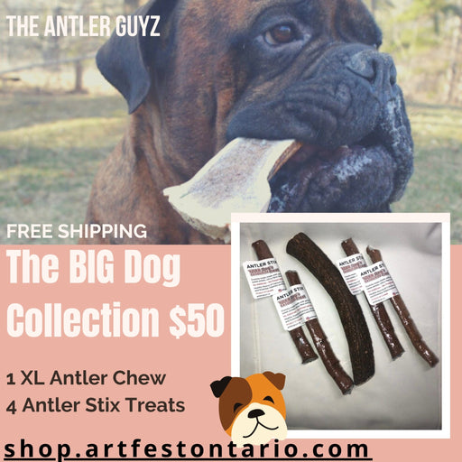 The BIG Dog Chew & Treat Collection - Artfest Ontario - Antler Guyz - Pet Products