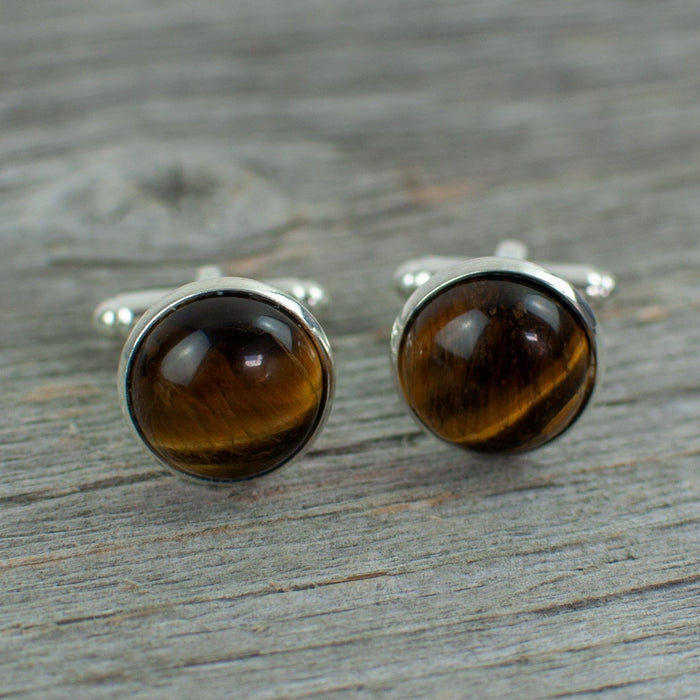 Tiger eye stone cuff links - Artfest Ontario - Lisa Young Design - Cuff Links