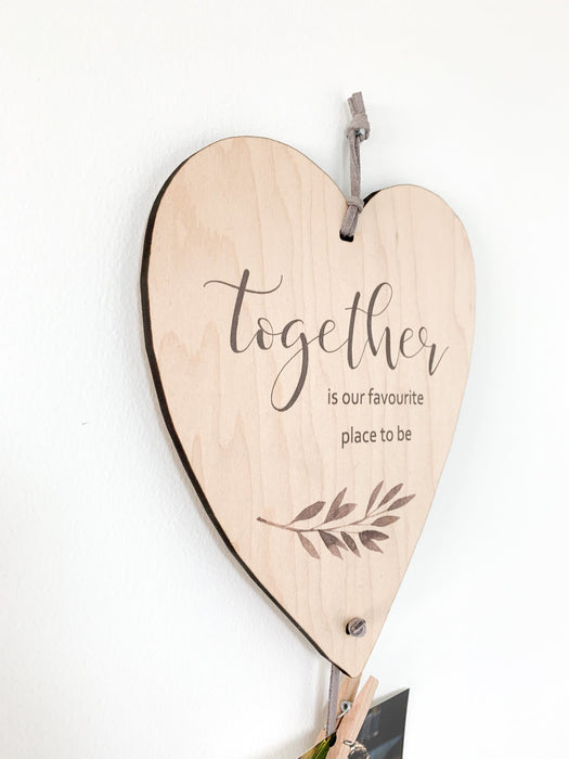 Together Is Our Favourite Place To Be Heart Memory Keeper - Artfest Ontario - Urban Nest Decor - Ready Made Memory Keepers